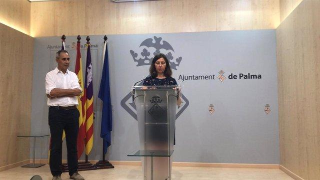 Regidora de Modelo de Ciudad, Vivienda Digna y Sostenibilidad, Neus Truyol, en rueda de prensa