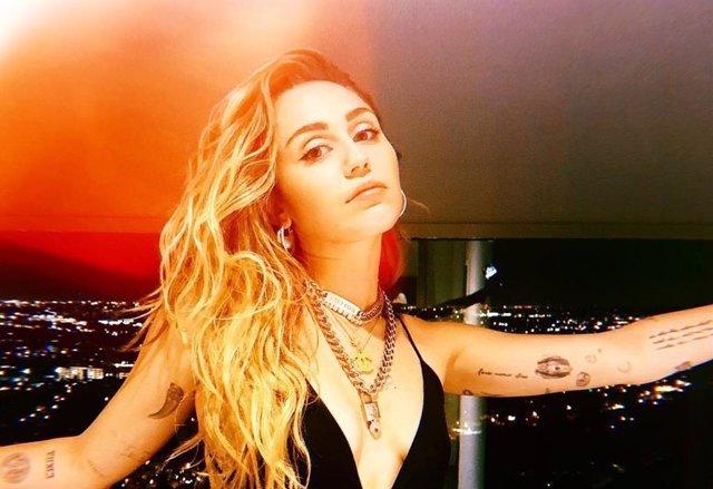 Instantánea subida por Miley Cyrus a su cuenta de Instagram