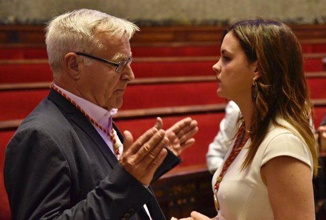 El alcalde de València, Joan Ribó (Compromís), y la vicealcaldesa primera, Sandra Gómez (PSPV), en una imagen reciente.
