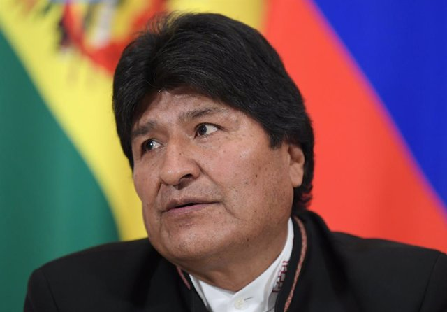 July 11, 2019 - Moscow, Russia: Bolivian President Evo Morales during a press conference following a meeting with Russian President Vladimir Putin in the Kremlin. July 11, 2019 Russia, Moscow. (Dmitry Azarov/Kommersant/Contacto)