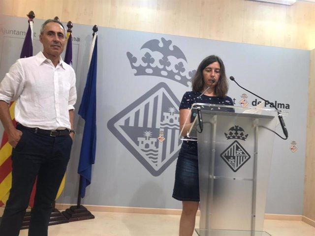 La regidora de Modelo de Ciudad, Vivienda Digna y Sostenibilidad, Neus Truyol,  en rueda de prensa