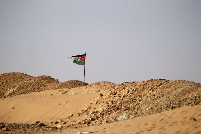 Bandera de la RASD en Tinduf