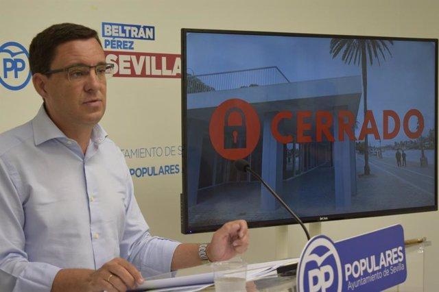 El concejal del PP en Sevilla Juan de la Rosa