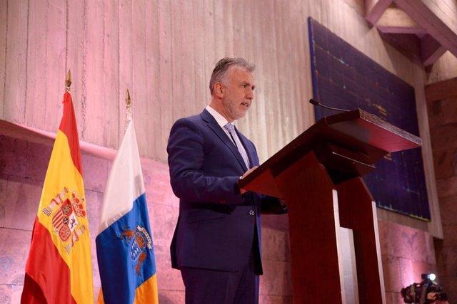 Ángel Víctor Torres, en su discurso de toma de posesión como presidente