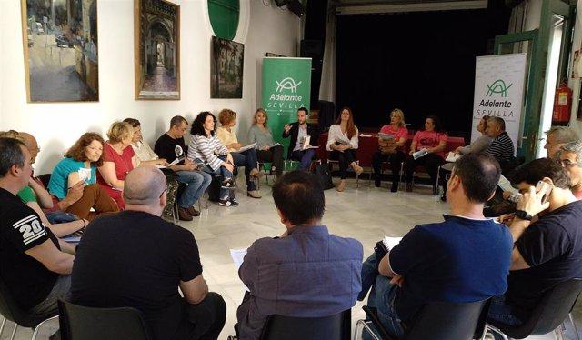 Reunión mantenida con representantes sindicales del Ayuntamiento de Sevilla.