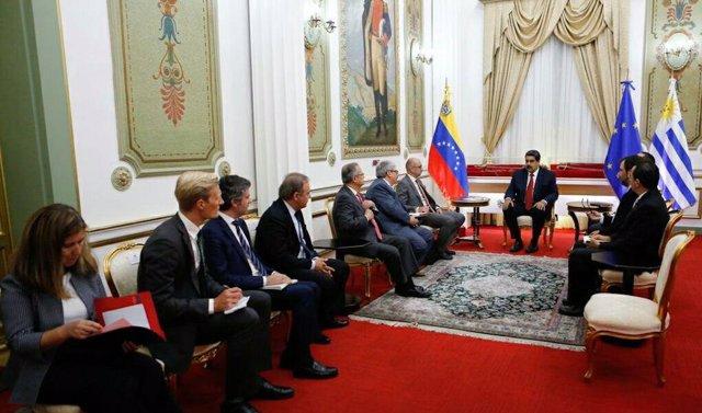 Reunión de Nicolás Maduro con el Grupo Internacional de Contacto
