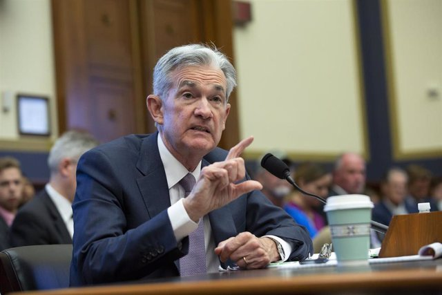 July 10, 2019 - Washington, DC, United States: Chair of the Federal Reserve Jerome Powell testifies before the House Financial Services Committee on Capitol Hill in Washington D.C., U.S. on July 10, 2019. (Stefani Reynolds / CNP / Contacto)
