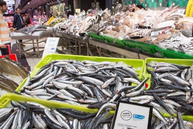 Anchoa del Cantábrico. Bocarte. Pescado. Alimentación. Supermercado. IPC