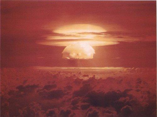 Prueba atómica en las Islas Marshall en 1954