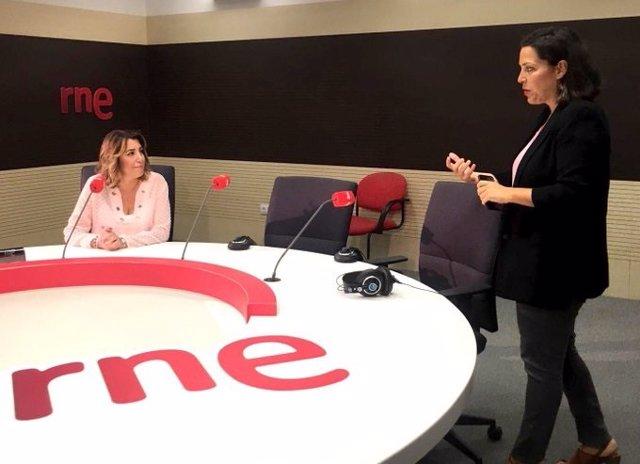 Susana Díaz, este miércoles durante la entrevista