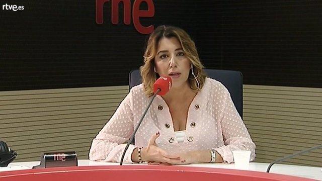 Susana Díaz, ests miércoles, durante la entrevista
