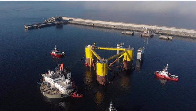 Plataforma flotante del proyecto Windfloat Atlantic