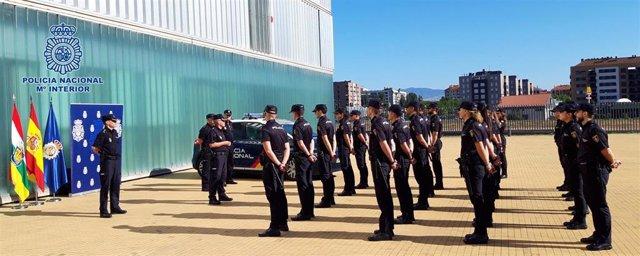 Los nuevos agentes que han llegado a la Comisaría de la Policía Nacional de Logroño