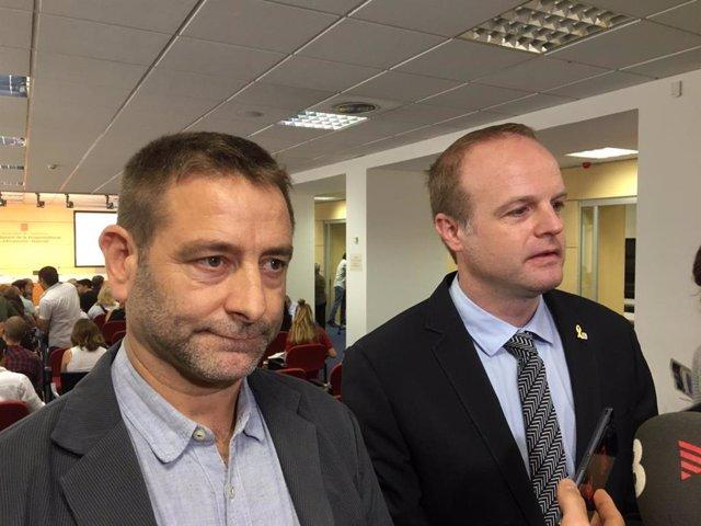 El director ejecutivo de Ivàlua, Marc Balaguer, y el secretario general de la Conselleria de Economía de la Generalitat, Albert Castellanos