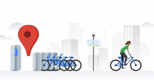 Google Maps amplía a Madrid y Barcelona la información sobre bicicletas de alquiler