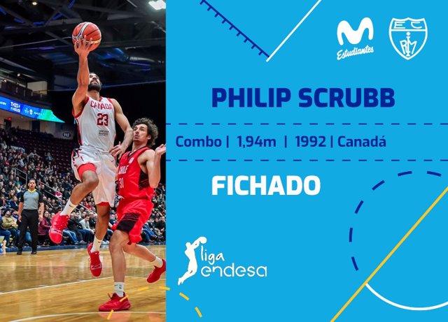 El Movistar Estudiantes ficha al internacional canadiense Philip Scrubb