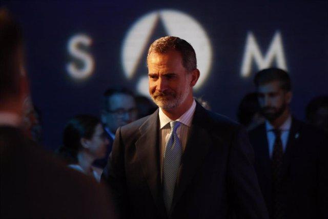 El Rey Felipe VI durante el acto del XX Aniversario de la Fundación Euroamérica en Madrid