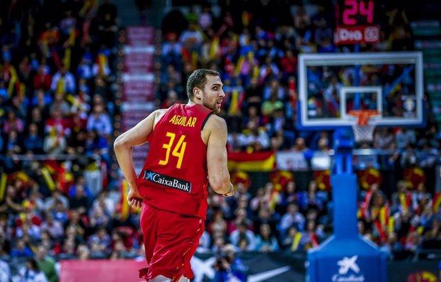 Pablo Aguilar, jugardor de la selección nacional de Baloncesto