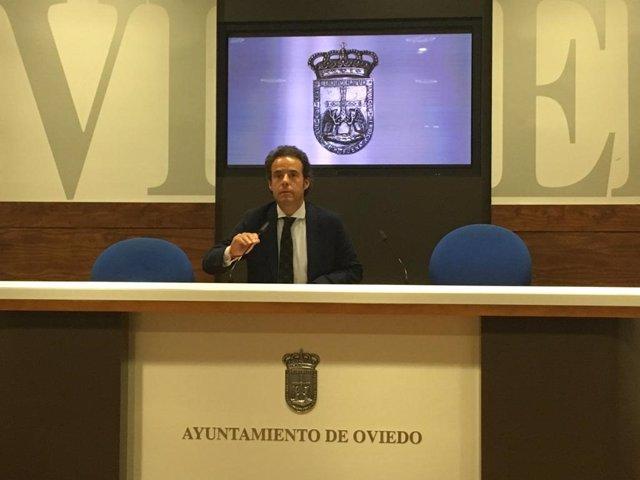 El concejal de Urbanismo de Oviedo y edil de Ciudadanos, Ignacio Cuesta