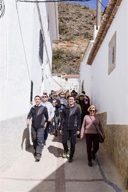 Visita al municipio de Laroya