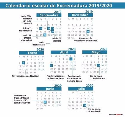 Calendario escolar en Extremadura 2019/2020: Navidad, Semana Santa y vacaciones de verano