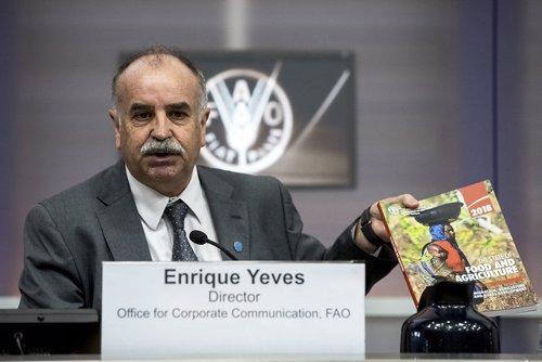Enrique Yeves durante su etapa como director de Comunicación de FAO en Roma.