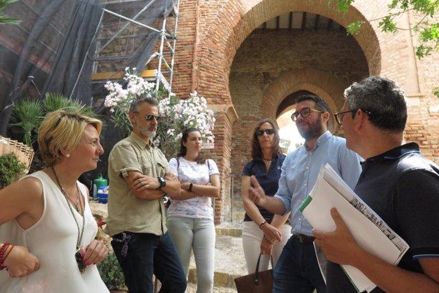 Obras junto a la Puerta de la Justicia de la Alcazaba de Almería