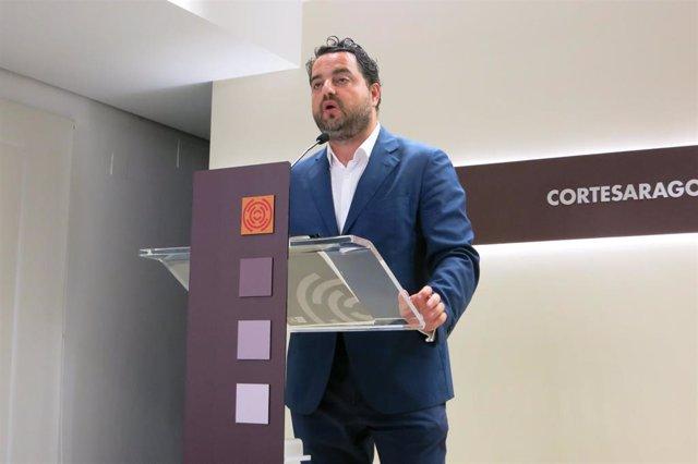 El portavoz de Vox en las Cortes de Aragón, David Arranz