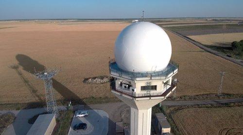 Radar de Enaire instalado en Valdespina (Palencia).