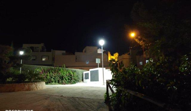 Iluminación LED del parque Laderas del Hundidero de Morón.