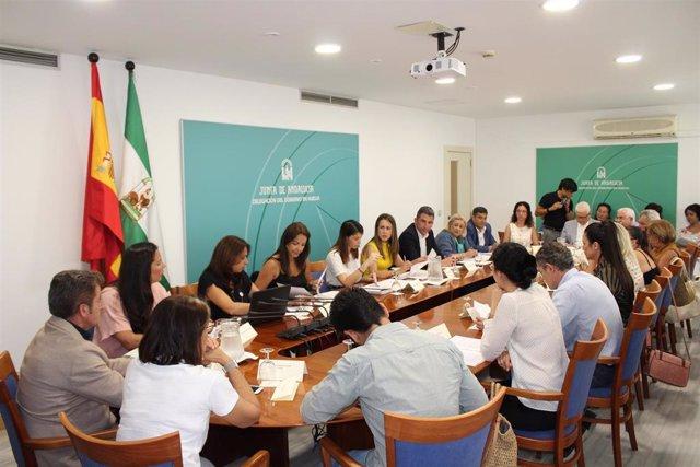 Reunión del Foro Provincial de la Inmigración en Huelva.