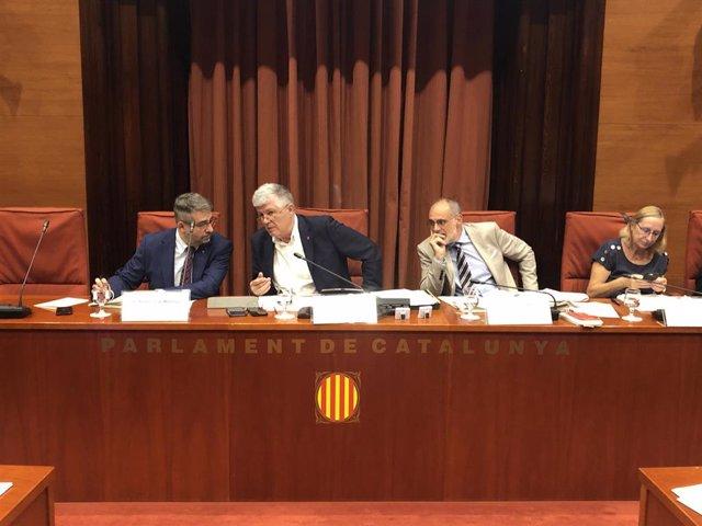 El director de Mossos Andreu Martínez comparece en la Comisión de Interior del Parlament