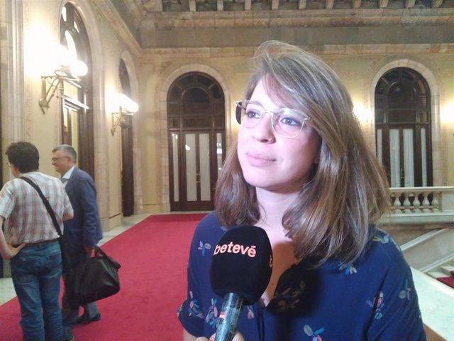 La teniente de alcalde de Barcelona Janet Sanz