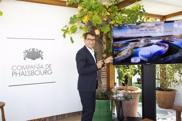 El presidente de la Compañía de Phalsbourg, Raphaël Martín, en la presentación de Open Sky Madrid.