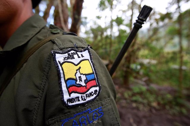 Un guerrillero de las FARC en Colombia.