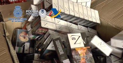 Desarticulada en Madrid una red internacional dedicada al contrabando de tabaco y blanqueo de capitales