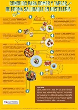 Consejos para comer y tapear de forma saludable.