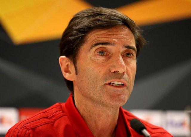 El entrenador del Valencia CF Marcelino García Toral