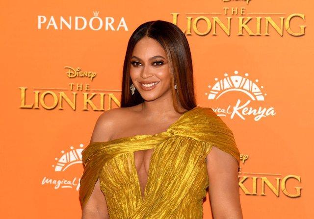 Beyoncé en la premiere de 'El Rey León' en Londres