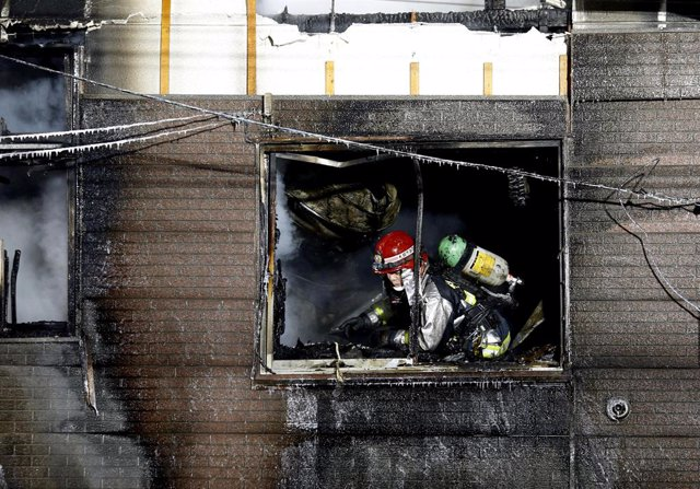Incendio en una residencia pública para mayores en Sapporo (Japón)