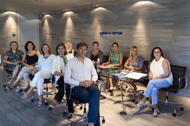 Primera reunión de la Comisión de Igualdad y Diversidad de CEOE-Cepyme Cantabria encabezada por el presidente, Enrique Conde