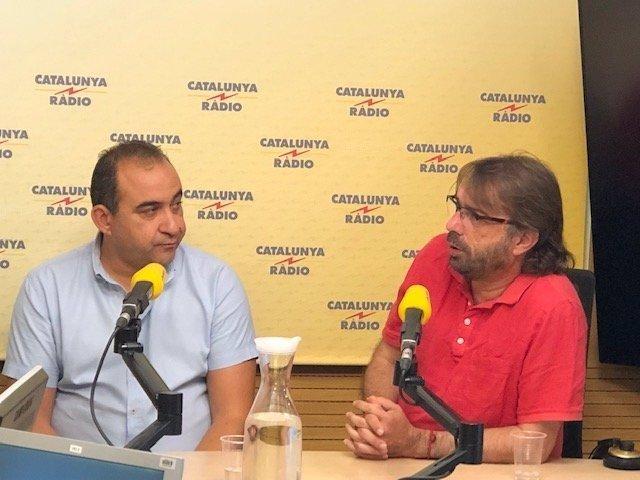 Pacheco (CCOO) i Ros (UGT)