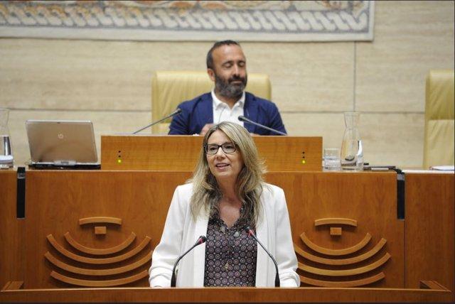 La portavoz del Grupo Parlamentario Popular, Cristina Teniente