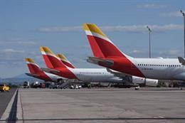 Conjunto de aviones de Iberia.