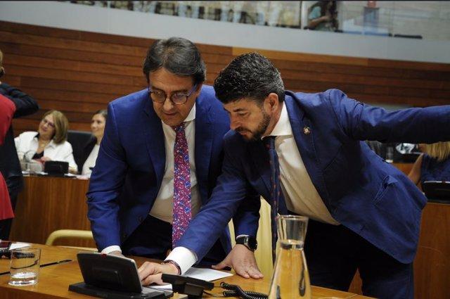 El consejero de Sanidad, José María Vergeles, en la Asamblea de Extremadura