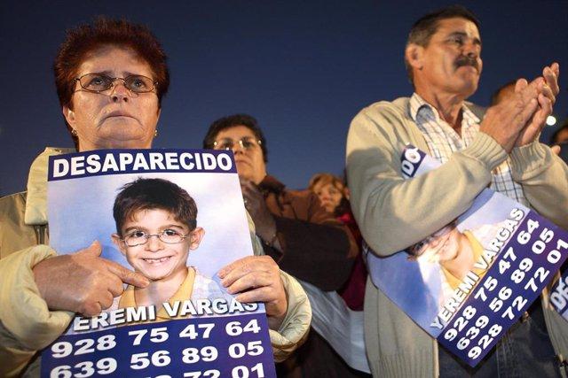 El niño desaparecido Yeremi Vargas