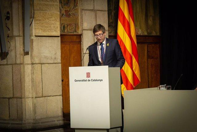 L'exconseller Carlos Mundó rep el Premi Justícia 2018
