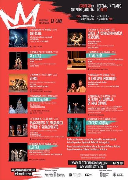 Comienza este viernes la XX edición del Festival de Teatro de Olite con una apuesta por la danza y la música