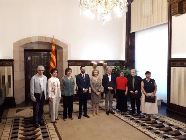 J.Font, V.Panyella, S.Casals, M.Troguet, N.Iceta, E.Colomer, M,Porté con R.Torrent y M. Villalonga
