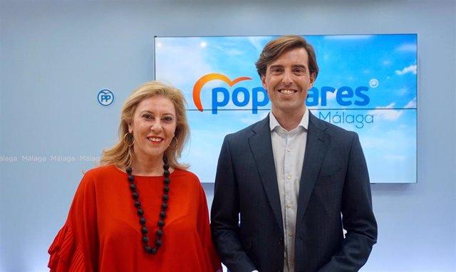 Carolina España y Pablo Montesinos, diputados del PP por Málaga en el Congreso de los Diputados